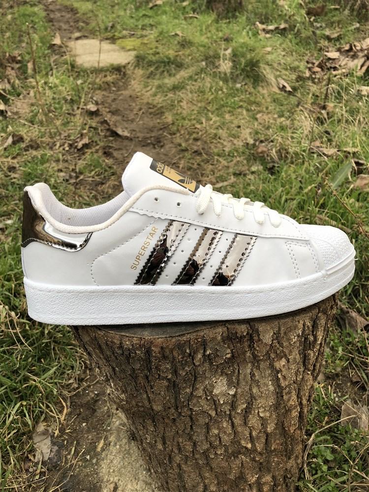 Εφηβικα Αθλητικα Παπουτσια SUPERSTAR Χρωμα White Metal Τ100110 00e235c9cd3