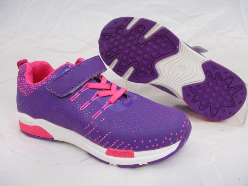 f087a5a3685 Παιδικα Αθλητικα Παπουτσια Με Αυτοκολλητο Για Κοριτσι Χρωμα Μωβ ...