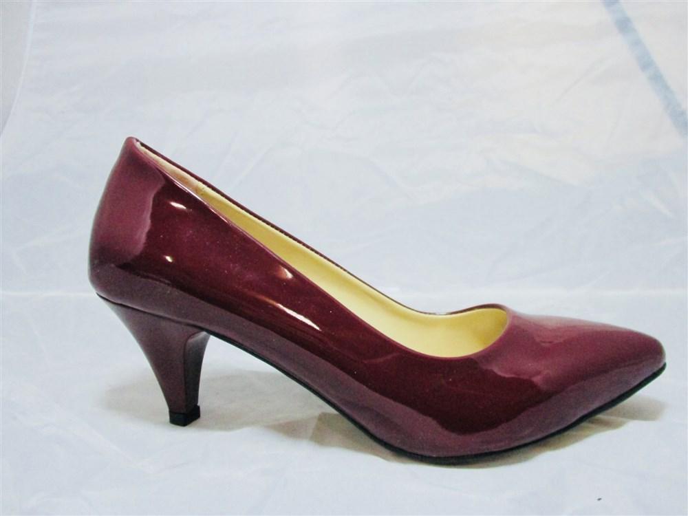 446d77994b7 Γοβες Γυναικειες Handmade Με Χαμηλο Τακουνι Μυτερες Χρωμα Μπορντω Β500155