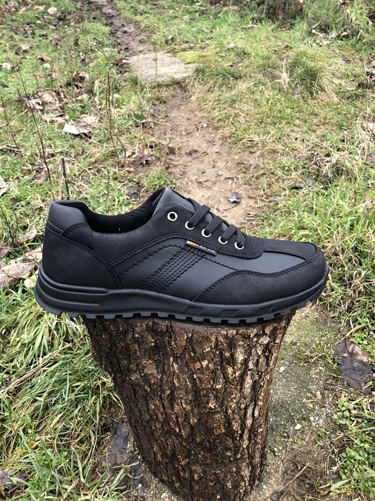 870102acd83 Ανδρικα Δερματινα Casual Παπουτσια Με Κορδονια Χρωμα Μαυρο 054133
