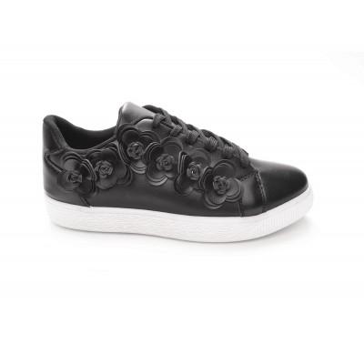 Γυναικεια Sneakers Με Κορδονια Χρωμα Μαυρο 163238 5598be4ccd0