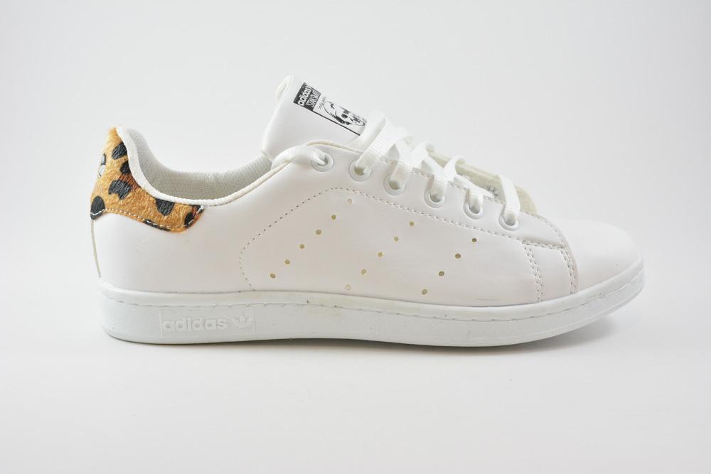 f3651fa03ad Εφηβικα Αθλητικα Παπουτσια STAN SMITH White/Leopard Τ100101