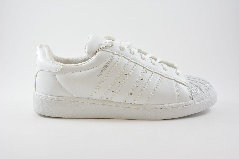 316b30bfb86 Εφηβικα Αθλητικα Παπουτσια SUPERSTAR Χρωμα All White Τ100110