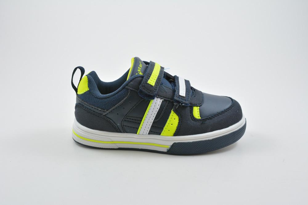 9654572d026 Παιδικα Αθλητικα Παπουτσια Για Αγορακι Με Αυτοκολλητο Χρωμα Μπλε 016261