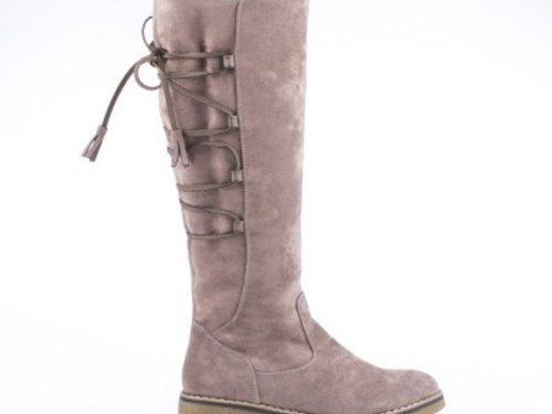 196339f186f Γυναικείες Μπότες Σε Suede Με Επένδυση Γούνας Χρώμα Μπεζ 039008