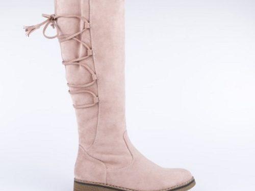 41bd955580 Γυναικείες Μπότες Σε Suede Με Επένδυση Γούνας Χρώμα Ροζ 039008